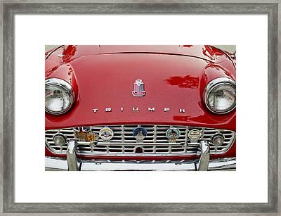 1960 Triumph Tr 3 Grille Emblems Framed Print by Jill Reger