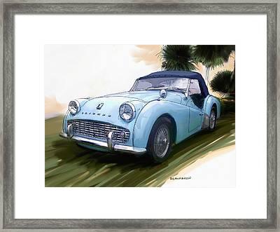 1960 Triumph Tr3 Framed Print by RG McMahon