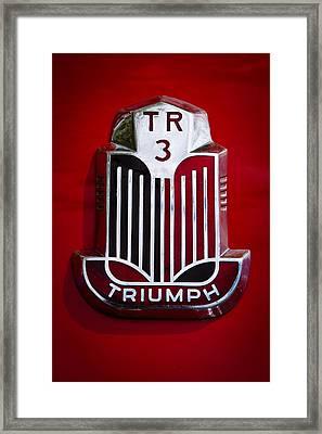 1960 Triumph Tr3a Framed Print by David Patterson