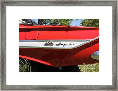 1961 Chevrolet Impala Ss Convertible . 5d16266 Framed Print by Wingsdomain Art and Photography