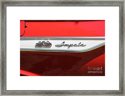 1961 Chevrolet Impala Ss Convertible . 5d16267 Framed Print by Wingsdomain Art and Photography