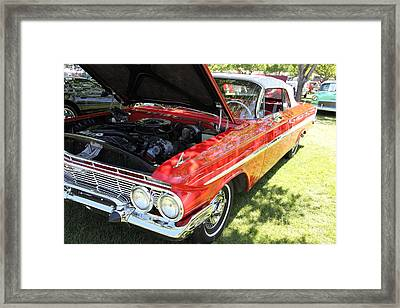 1961 Chevrolet Impala Ss Convertible . 5d16268 Framed Print by Wingsdomain Art and Photography