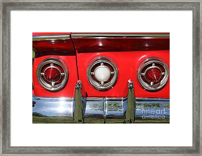 1961 Chevrolet Impala Ss Tail Lights . 5d16269 Framed Print by Wingsdomain Art and Photography