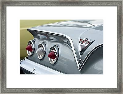 1961 Chevrolet Ss Impala Tail Lights Framed Print by Jill Reger