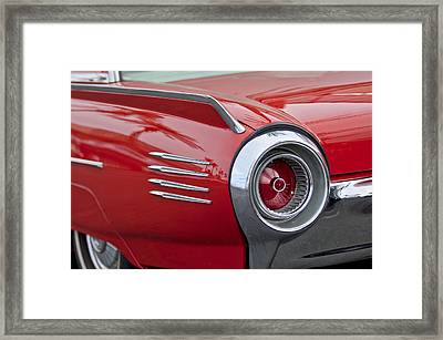 1961 Ford Thunderbird Taillight Framed Print by Jill Reger