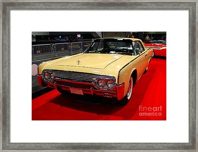 1961 Lincoln Continental Sedan . 7d9230 Framed Print by Wingsdomain Art and Photography