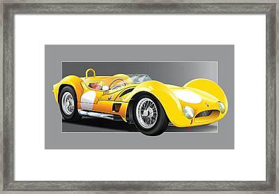 1961 Maserati Birdcage Framed Print by Alain Jamar
