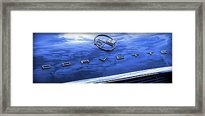 1962 Chevy Corvette Hood Blue Framed Print by Gordon Dean II