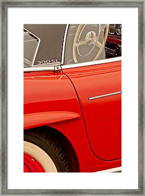 1962 Mercedes-benz 300 Sl Roadster Framed Print by Jill Reger
