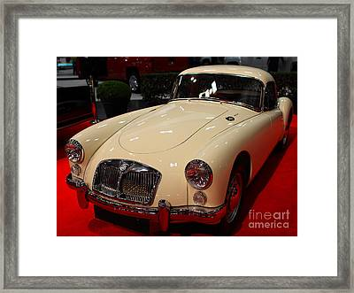 1962 Mg A 1600 Mark II Coupe . Vanilla White . 7d9325 Framed Print by Wingsdomain Art and Photography