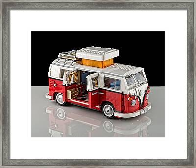 1962 Vw Lego Bus Framed Print by Noah Katz