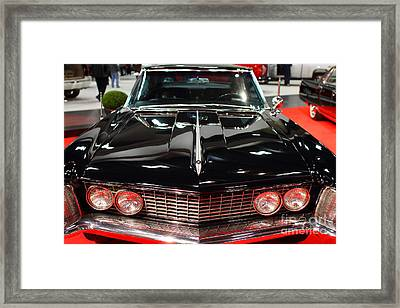 1963 Buick Riviera . Black . 7d9318 Framed Print by Wingsdomain Art and Photography