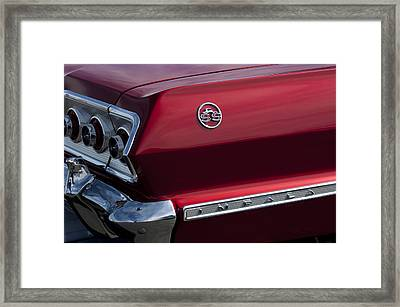 1963 Chevrolet Impala Ss Taillight Framed Print by Jill Reger