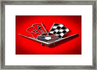 1963 Chevy Corvette Emblem Framed Print
