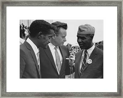 1963 Civil Rights March On Washington Framed Print by Everett