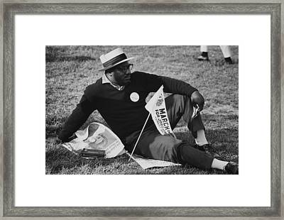1963 March On Washington. A Male Framed Print by Everett