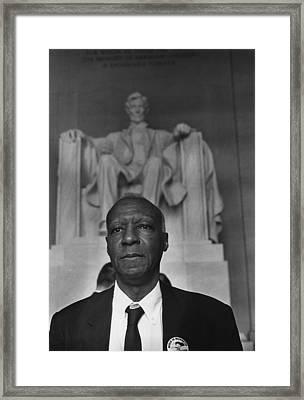 1963 March On Washington. A. Philip Framed Print