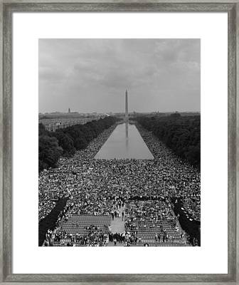 1963 March On Washington. A View Framed Print by Everett
