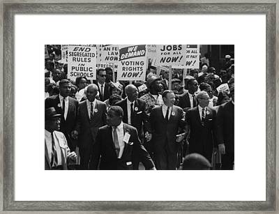 1963 March On Washington. Civil Rights Framed Print by Everett