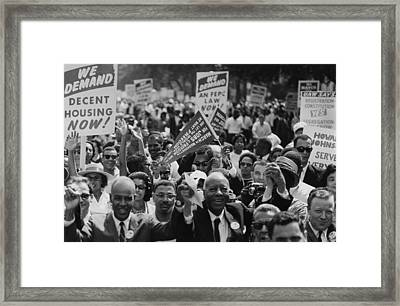 1963 March On Washington. Close-up Framed Print by Everett
