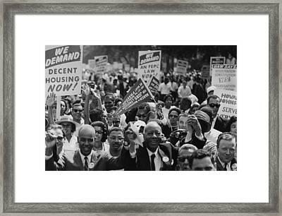 1963 March On Washington. Close-up Framed Print