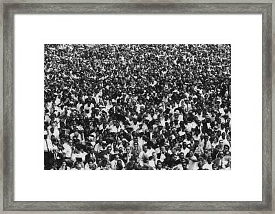1963 March On Washington. Crowd Framed Print by Everett