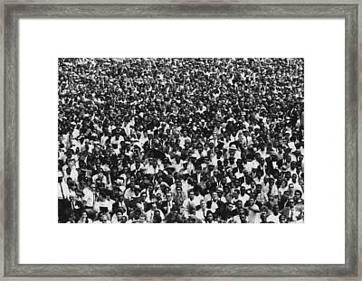 1963 March On Washington. Crowd Framed Print by Everett