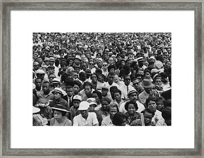 1963 March On Washington-faces Framed Print by Everett