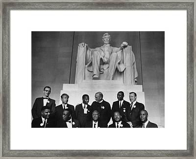 1963 March On Washington. Leaders Framed Print by Everett