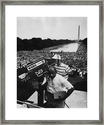 1963 March On Washington. Nbc Framed Print by Everett