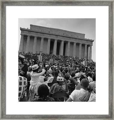 1963 March On Washington. View Framed Print by Everett