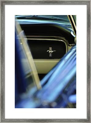 1964 Ford Mustang Emblem Framed Print