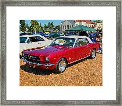 Framed Print featuring the photograph 1964 Ford Mustang by Tikvah's Hope
