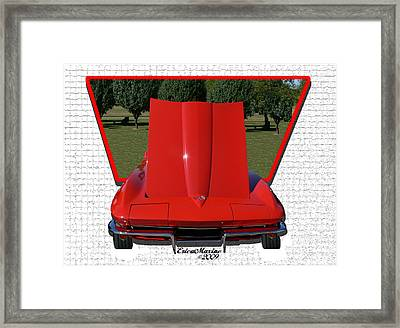 Framed Print featuring the photograph 1965 Corvette by EricaMaxine  Price