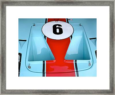 1965 Ford Gt40 Hood Detail Framed Print by John Colley