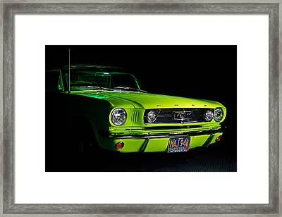 Framed Print featuring the photograph 1965 Ford Mustang by Jim Boardman