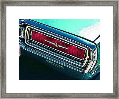 1965 Ford Thunderbird Tail Light Study Framed Print by Samuel Sheats