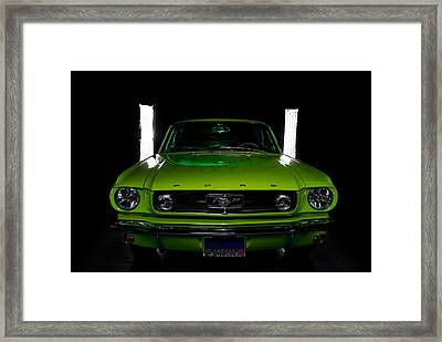 Framed Print featuring the photograph 1965 Mustang by Jim Boardman
