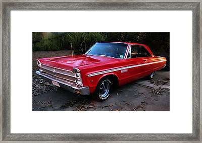 Framed Print featuring the photograph 1965 Plymouth Fury by Elizabeth Coats