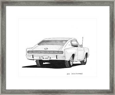 1966 Dodge Charger Framed Print by Jack Pumphrey