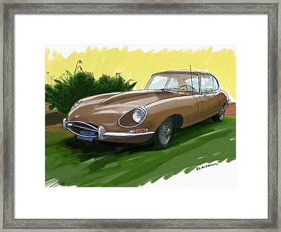 1966 Jaguar Xke Framed Print by RG McMahon