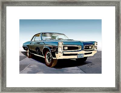 Framed Print featuring the painting 1966 Pontiac Gto by Rod Seel