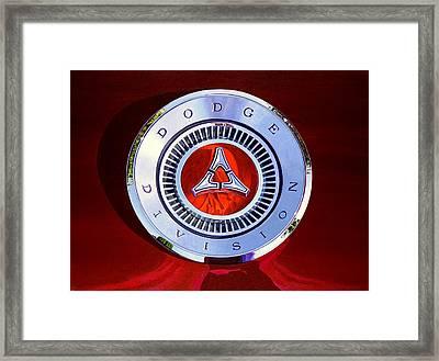 1967 Dodge Charger - Dodge Division Badge Framed Print by Jeff Taylor