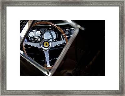1967 Ferrari 275 Gtb 4 Steering Wheel Emblem Framed Print by Jill Reger