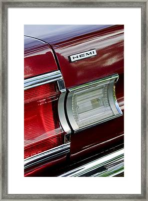 1967 Plymouth Hemi Taillight  Framed Print