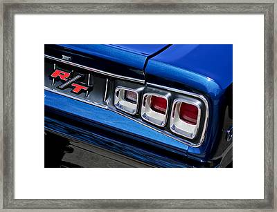 1968 Dodge Coronet Rt Hemi Convertible Taillight Emblem Framed Print by Jill Reger