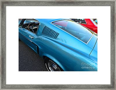 1968 Ford Mustang Fastback  Profile Framed Print by Paul Ward