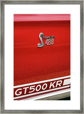 1968 Ford Mustang Gt500 Kr - King Of The Road Framed Print by Gordon Dean II