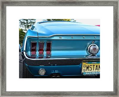 1968 Mustang Brake Light Framed Print by Paul Ward