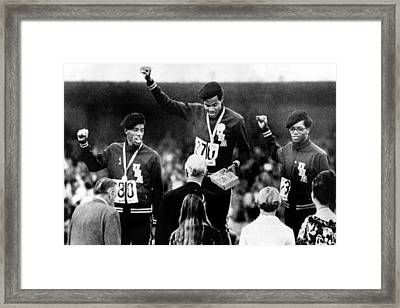 1968 Olympics, 400 Meter Run Winners Framed Print